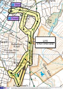 U15 race 4.7km with 270m of climb
