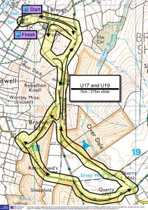 U17 and U19 race 7km and 375m of climb